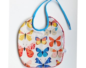 bib with butterflies