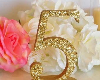Table Numbers, Event Decor; Wedding Decor; Solid or Glitter -1/2 thick Wedding table decoration [TN110]