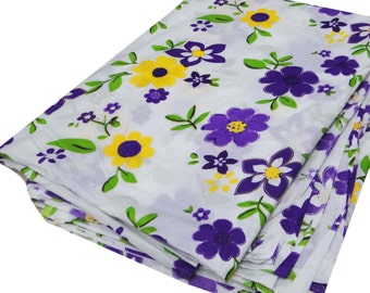 """Indian Cotton Dress Making Material Drape Cotton Floral Print Fabric 42"""" Wide Quilting Cotton Designer Dress Craft Fabric By 1 Yard ZBC5046"""