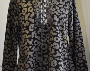 Barbados - Cotton Pull-Over w/Laced-up Front Closure -  FA12-5098
