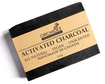 Activated Charcoal Soap With Shea Butter - All Natural, Vegan, Handmade, Acne & Detox Soap