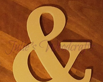 Wedding photo prop And Ampersand & wooden symbol sign