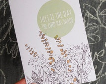 This is the day - Bible verse greeting card