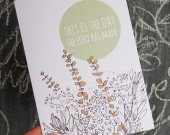 Bible verse greeting card - This is the day