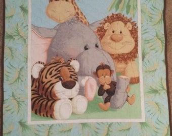 Jungle Babies Crib Quilt