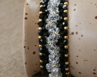 Glitzy Ditzy Right Angle Weave Bracelet