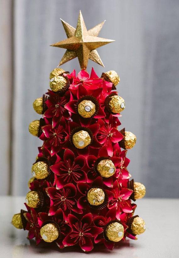 Origami Flower Christmas Tree Ferrero Rocher