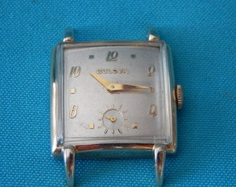Vintage Men's Bulova 17 Jewel Watch 1952