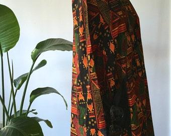 african trapeze dress