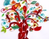 Tree of Life - Unique Paper Quilled Wall Art for Home Decor (paper quilling handcrafted art piece made with love by an artist in California)