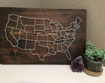 USA Map String Art