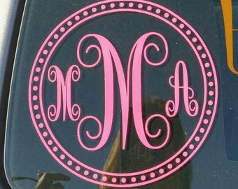 Monogram Car Decal Decal Sticker Bumper Stickerwindow Decal - Monogram car decal sticker