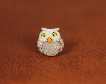 Owl Polymer Clay Brooche