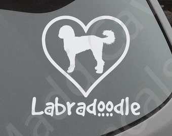 Love Your Labradoodle Decal Car Window Dog Breed Puppy