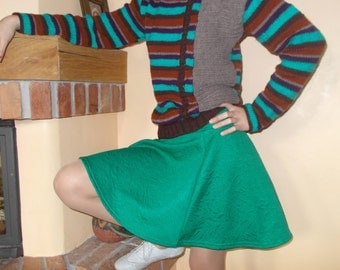 colorful striped hand knitted sweater