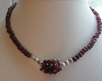 Ruby Necklace Set  #481