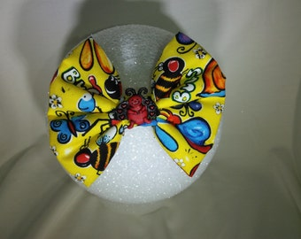 Yellow Playful Bug Hair Bow