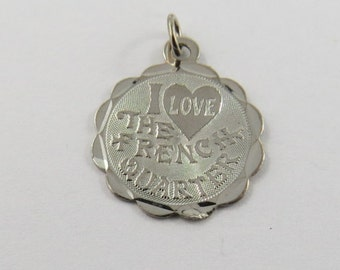 I Love The French Quarter Sterling Silver Charm of Pendant.