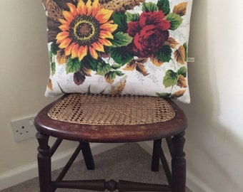 Cushion made from vintage fabric