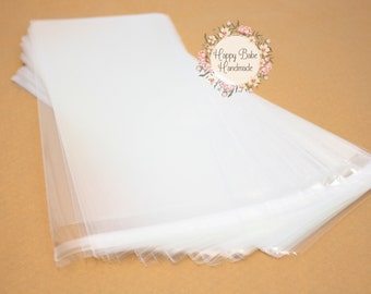 50 Cello Bags, 3--7/8 by 8--5/8 Inches, Cellophane Bags, Lip & Tape Self Sealing, Photo Protection, Clear Gift Wrap, Candy Packaging