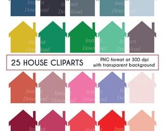 House Clipart, Home Clipart, Cottage Clipart, Scrapbooking Clipart, Digital Clip Art, Cardmaking Clipart, Instant Download Clipart, png file