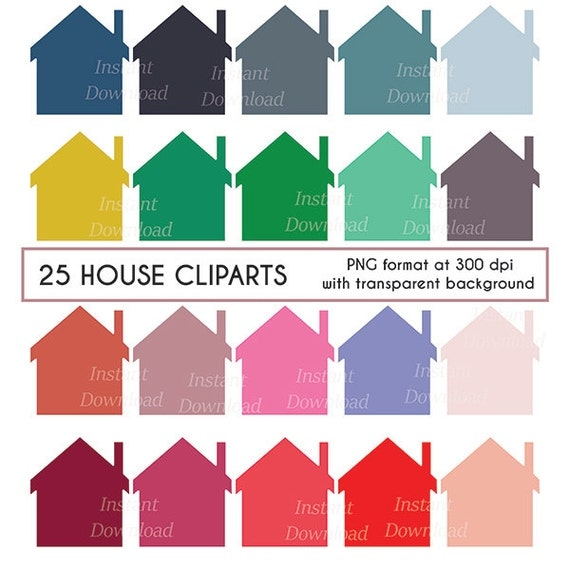 House Clipart Home Cottage Scrapbooking Digital Clip Art Cardmaking Instant Download Png File From