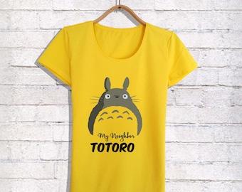 My Neighboor Totoro Womens Shirt,Womens Shirts,Womens Tshirts,Womens Clothings,Girl Shirts,Gift For Her,Gif For Wife,Custom Women's Shirt