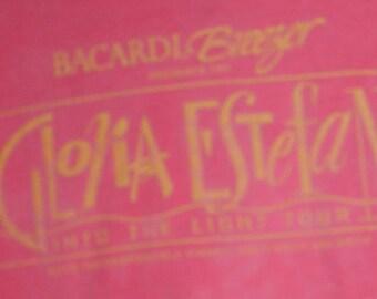 Gloria Estefan Crew/Tour Sponsor T Shirt! Authentic Vintage 1991! Gloria Estefan ~ Into The Light Tour Size XXL