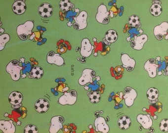 Snoopy Soccer fabric year 2000