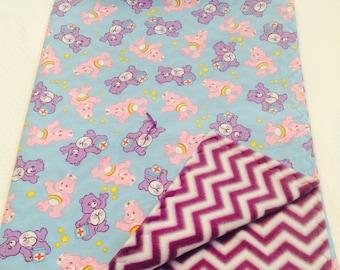 Care Bear Blanket Pillow Set