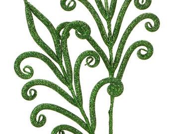 CHRISTMAS PICKS - 4 pk - SPRAYS - Floral Picks - Green Picks - Floral Sprays - Christmas Floral - Fleur Di Lis - Wreath