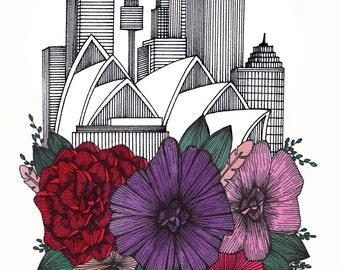 Sydney Floral Cityscape
