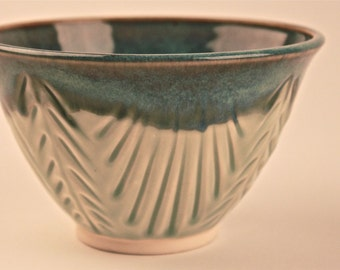 Carved Aqua Bowl