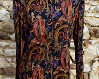 Vintage Paisley Print Blouse