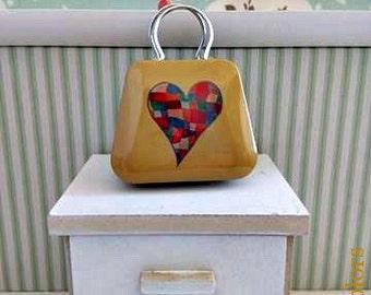 Metal bag for Blythe or similar dolls