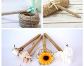 One Rustic Pen Guest Book Tree Branch pen Pens Sunflower Lace Burlap Wedding Pen for Guest book Rustic Country Wedding Decor Reception