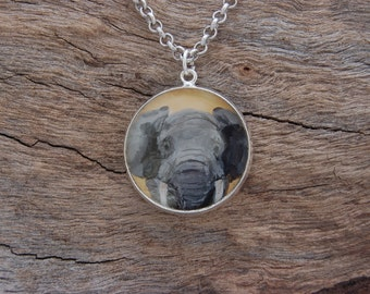 Hand Painted Elephant Pendant