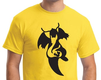 Dratini, Dragonair and Dragonite Silhouetted Pokemon T Shirts for Men, Women and Children