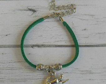 Swimming Bracelet// Team Colors//Swimming Mom// Swimmers Gift// Custom Sports Bracelet for Girls// Choose Color & Sports Charm