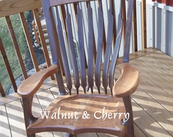 Walnut & Cherry Rocking chair