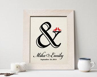 2nd anniversary cotton gift, Anniversary Gift, 2 Year Anniversary Gift, 2nd wedding anniversary gift - CA0105