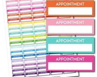 Appointment stickers, Appointment planner stickers, Printable appointment stickers, Appointment box stickers, Appointment Header, STI-232