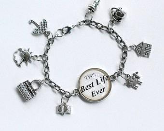 The Best Life Ever charm bracelet.  JW Pioneer.  Ministry.  Pioneer school gift, new pioneer gift.