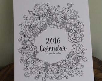 2016 Coloring your own Calendar