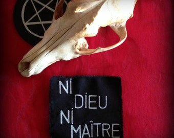 Ni Dieu ni maître patch//Anarchist patch//Handmade patch