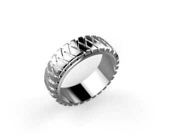 Tire Tread Ring Etsy