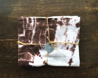 flour sack towel, rustic home decor, brown tea towel, hostess gift, sepia tone, kitchen towel, dish towel, hand towel, shibori, large, set