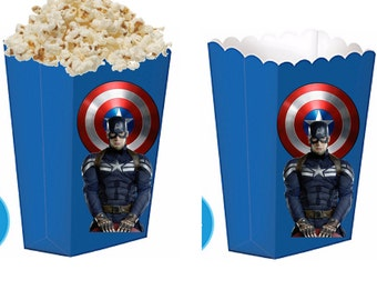 Captain america treat boxes