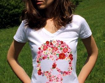 Skull TShirts Skull T Shirt Sugar Skull Shirts Sugar Skull T Shirt Skull Tops Skull Clothing Women Lady V Neck Hipster Tees Shirt