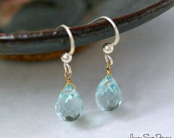 Sky Blue Topaz & Sterling Silver Earrings [December Birthstone]